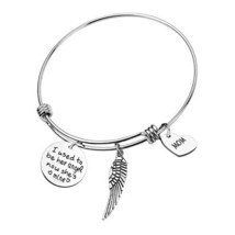 RUNXINTD Memorial Jewelry Mom Memorial Gift I Used to (She`s Mine-MOM Br... - $20.22