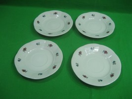 Gibson China Saucer Plates Set of Four Meridian Patterns 6.75 Inches Diameter - $8.56
