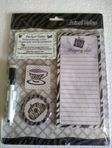 Personal Message Center Animal Notes Pad Magnets Board Dry Erase Magneti... - $9.95