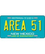 Area 51 New Mexico License Plate Novelty Metal State Background Truck  ... - $13.81