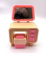 Vintage 1977 Barbie Dream House Furniture Pink Vanity & Seat - $24.75
