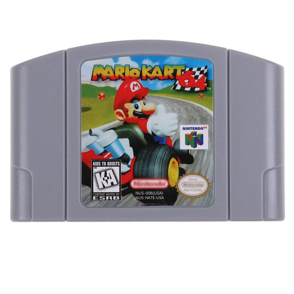 N64 Game Mario,Smash Bros,Kart , Bad Fur Day Video Game Cartridge Console Card