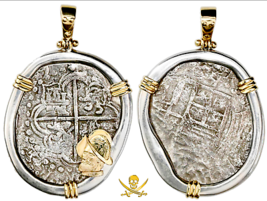 "ATOCHA NECKLACE 1619 BOLIVIA ""MEL FISHER COA"" PIRATE GOLD TREASRUE COIN ... - $2,950.00"