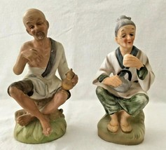 Vintage Napco Asian Man And Women Holding Cups And Containers - $9.98
