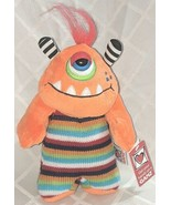 GANZ H12596 Orange One Eyed  KnitWit Monster Multi Colored 10 Inch 3 Plu... - $9.99