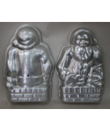 Nordic ware vintage Santa Claus decorative 3D standup Cake Pan 2 pieces - $10.95