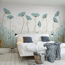 beibehang Classic papel de parede 3d wallpaper simple painting mint green style - $35.95
