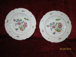 "Chas Field Haviland Meissen set of 2 bread plates 6 1/2"" red line - $16.78"
