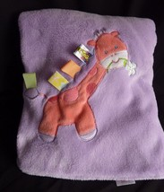 Taggies Purple Pink Giraffe Baby Blanket Fleece - $35.23