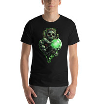 Skull T-shirt, Men Graphic Tee, Black tshirt, Spider Web - $32.00