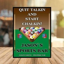 personalised Funny Pool Sports Bar Metal sign plaque man cave shed  home... - $7.68