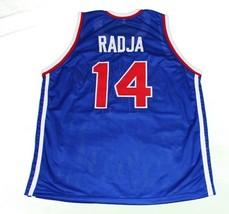Dino Radja #14 Jugoslavija Yugoslavia Basketball Jersey New Sewn Blue Any Size image 2