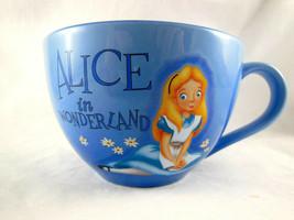 Alice in Wonderland Blue Disney Store Large 20oz Coffee Mug Cup Bowl - $10.88