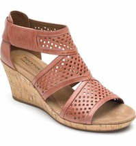 Rockport Cobb Hill Women's Janna Leather Wedge Sandal Pink CH4979 - $89.99