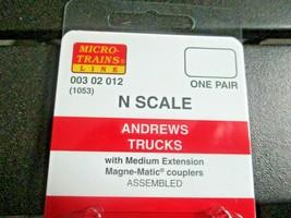 Micro-Trains Stock # 00302012 (1053) Andrews Trucks  Medium Extension N-Scale image 2