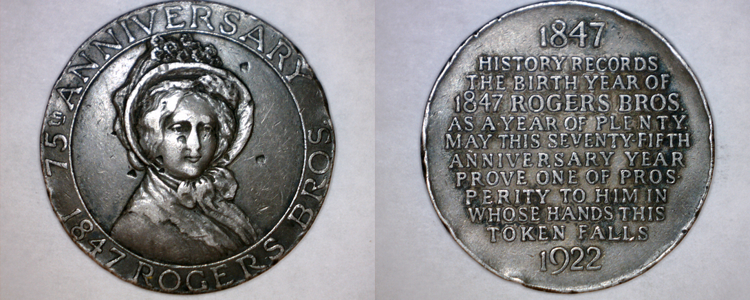 Primary image for So-Called Dollar HK-737a 1922 Rogers Bros 75th Anniversary Silver Medal