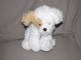 """Dog Ty Classic 2006 Puppy TANDY 10"""" White with Tan ear & tail stuffed pl... - $35.63"""