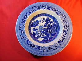 """8 3/4"""" Rimmed Soup Bowl, from Johnson Bros., in the Blue Willow Pattern. - $19.99"""