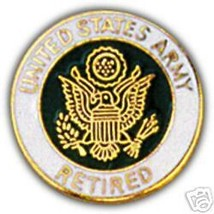 Army Retired Color Logo Lapel Pin - $13.53
