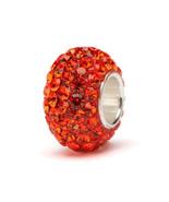 Orange Crystal Charm Bead - $24.99