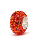 Orange Crystal Charm Bead - $32.97 CAD