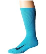 Nike Elite Running Cushion Crew Socks Chlorine Blue/Armory Navy Crew Cut... - $12.00