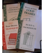 4 DIY Country Wisdom Bulletins: Smokehouse, Food Drying, Root Cellar, Co... - $18.95