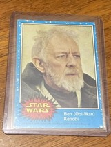 1977 Star Wars #6 Ben Obi-Wan Kenobi Topps Trading Card Original Blue Series 1 - $59.39