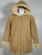 St Johns Bay Women's Jacket Coat Beige Tan Washable Suede Leather Size M... - €66,94 EUR