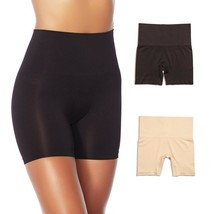 Yummie Seamless Shaping Shortie 2-pack in Black/Nude, M/L (607703) - $32.66