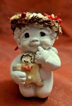 Dreamsicles Figurine Cherub & Ginger Bread Man Sweet Stuff Collectible Figurine