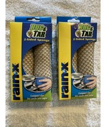 2 Pack Rain X Bug & Tar 2-Sided Sponge Clear Coat Safe Compact Size REMO... - $13.71