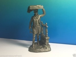 Franklin Mint American People Pewter Figurine Statue 1977 Ron Hinote Muffin Man - $24.75