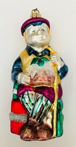 """Dept 56 Tiny Tim Christmas Carol Ornament Dickens Hand Blown Painted Glass 5.5""""a - $10.74"""