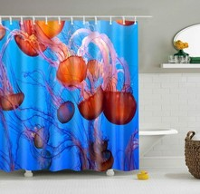 SMAVIA Green Leaf Shower Curtains Easy Install Polyester Bath Curtain include 12 - $34.24