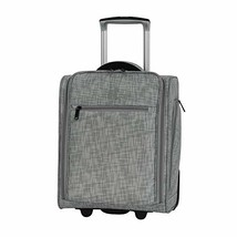 "it luggage 17.1"" Stitched Squares 2 Wheel Underseat Tote, Flint Grey - $70.11"