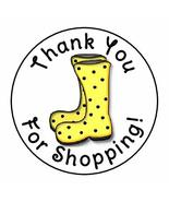 tkcutecandies123 24 RAIN Boots Thank You for Shopping Favor Labels Round... - $12.74