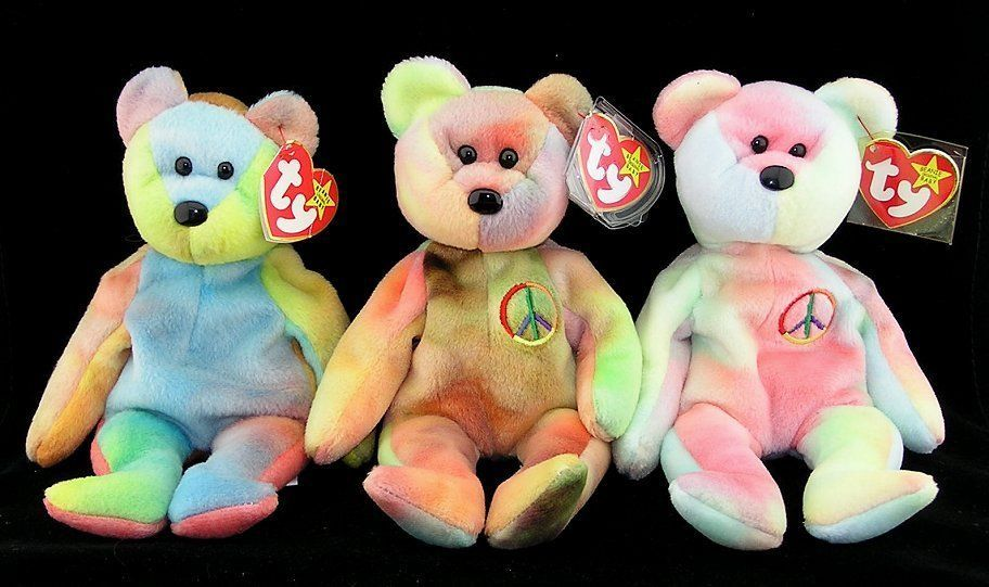 21e893deb6d Ty Beanie Babies 3 Tie Dye Bears Garcia and 50 similar items. S l1600