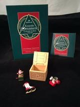 Hallmark 1992 CHRISTMAS TREASURES SET OF 3 Collector's Club Ornament w bx - $27.71