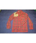 Levi's for Men Trucker Rodeo Cowboy Suede Patch Long Sleeve Flannel Shir... - $23.36