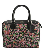 NWT Coach 57882 Pansy Flower PVC Navy Leather M... - $115.88
