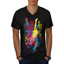 Guitar Dream Player Shirt Electric Men V-Neck T-shirt - $12.99+