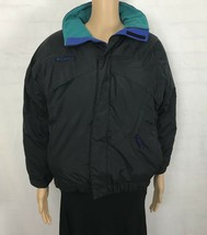 Columbia Jacket Boys Whirlibird Down Feather Black Green Blue Youth 14/16 - $21.64