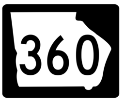 Georgia State Route 360 Sticker R4022 Highway Sign Road Sign Decal - $1.45+