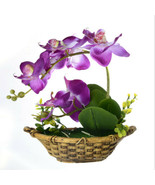 Retro Artificial Flower Bonsai Butterfly Orchid Pot Plant Wedding Floral... - £10.61 GBP
