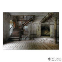 HALLOWEEN Party Decoration HAUNTED STAIRWELL Backdrop Photo Mural Banner - $24.99