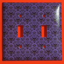 Haunted Mansion purple wallpaper Light Switch Outlet wall Cover Plate Home Decor image 1