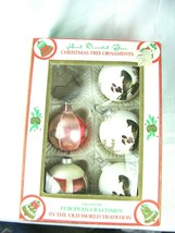 Commodore Mfg.Corp. Hand Decorated Glass Christmas Ornaments Mixed Lot - $12.82