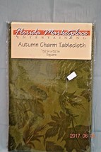 NEW 2  Autumn Tablecloths 52 X 52 Red & Green Plus 2  Tablerunners 14 x 70  - $17.60