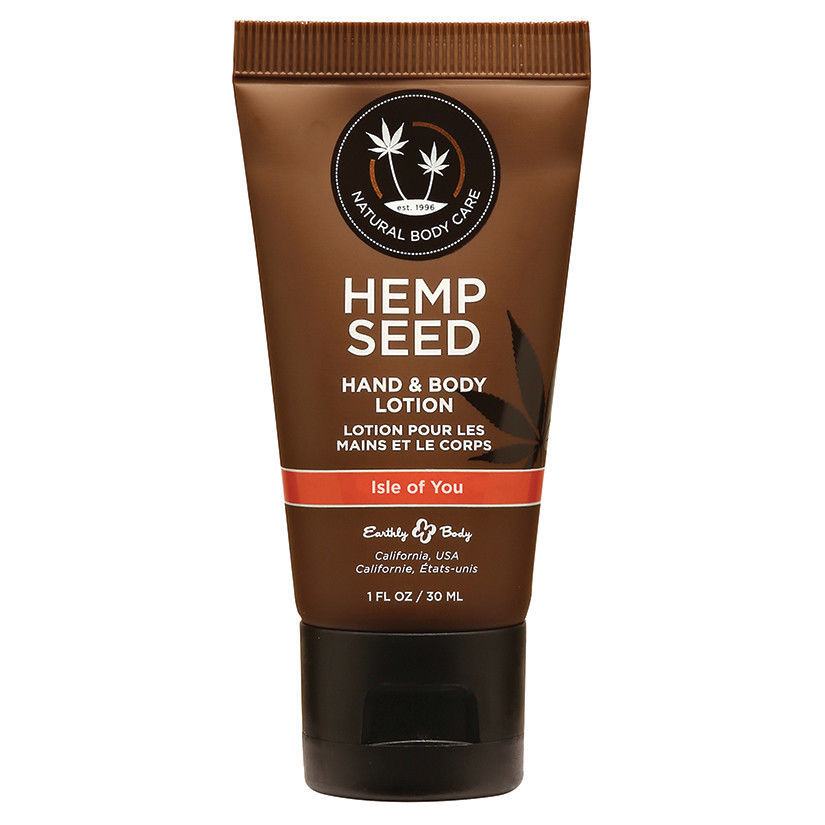 Earthly Body Hemp Seed Lotion-Isle of You 1oz 2 PIECES